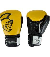 luvas de boxe pretorian elite training - 12 oz - adulto - amarelo/preto