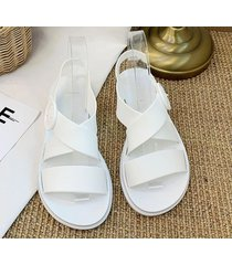 sandalias versátiles de moda para mujer-blanco