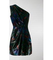dsquared2 tie-dye one-shoulder dress