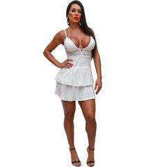 vestido antonella may stile plissado branco