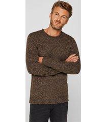 sweater jaspeado con lana marrón esprit