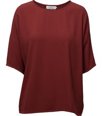 mains tee 5687 blouses short-sleeved röd samsøe samsøe
