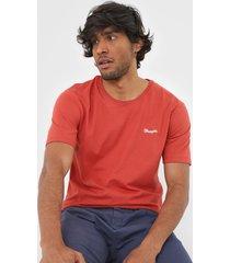 camiseta wrangler bordada vermelha