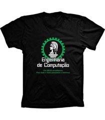 camiseta baby look lu geek engenharia de preto - preto - feminino - dafiti