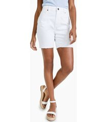 style & co petite denim bermuda shorts, created for macy's