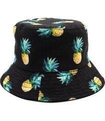 gorra de cubo con estampado de piña de verano para hombre