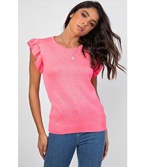 regata myah sara rosa neon - rosa - feminino - dafiti