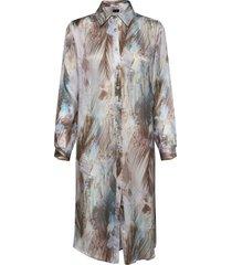 3391 - asia dress jurk knielengte blauw sand
