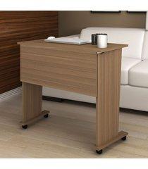 mesa escrivaninha dobrável com rodízio amendoa me4117 -tecno mobili