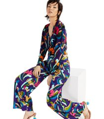 inc printed puff-sleeved cardigan, created for macy's