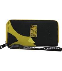 billetera amarilla leblu