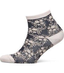 floral ariana sock lingerie socks footies/ankle socks blå becksöndergaard