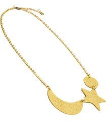 collar de mujer dorado notte sukram brass colection by vestopazzo