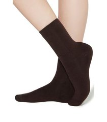 calzedonia short cotton thermal socks woman brown size tu