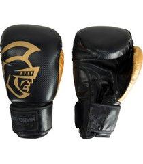 luvas de boxe pretorian black line - 14 oz - adulto - preto/ouro