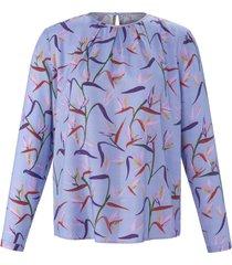 blouse lange mouwen en bloemenprint van anna aura paars