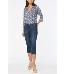 nydj petite chloe capri jeans with side zippers
