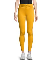 ruched cropped leggings