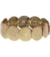 the sak gold-tone hammered stretch bracelet