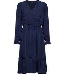 slfcallie-damina ls midi dress b jurk knielengte blauw selected femme