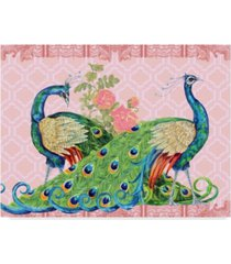 """jean plout 'peacock parade pink' canvas art - 14"""" x 19"""""""
