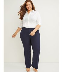 lane bryant women's curvy allie tailored stretch trouser pant 12 night sky