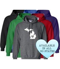 michigan hoodie sweatshirt love home heart unisex men women state