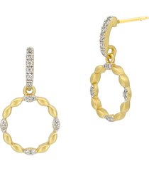 freida rothman armor of hope small open hoop earrings in gold and silver at nordstrom