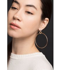 altaire pave three drop hoop earrings