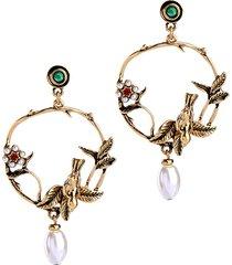 orecchini vintage a goccia di perle