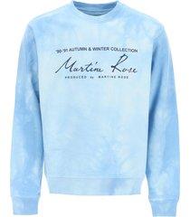 martine rose tie-dye crewneck sweatshirt with logo