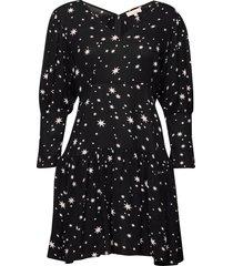 vintage drape flounce mini dress kort klänning svart by ti mo