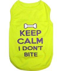 parisian pet keep calm dog t-shirt
