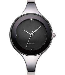 reloj para mujer analogico cuarzo acero inox. 9001 negro