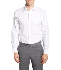 men's big & tall the tie bar trim fit solid dress shirt, size 16.5 - 36/37 - white