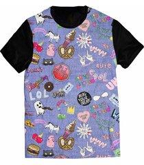 camiseta elephunk estampada lol jeans tumblr preta - kanui