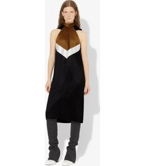 proenza schouler glacé pleated cut out dress black/off white/olive 2