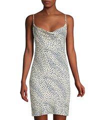 leopard silk slip dress