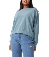 cotton on trendy plus size harper crew crop pullover sweater