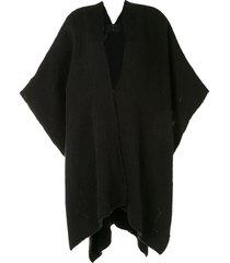 voz short flammé duster cardigan - black