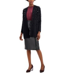 alfani paillette open-front cardigan, created for macy's