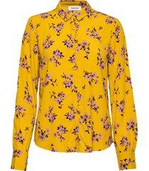 vanilla print shirt blouse lange mouwen geel modström