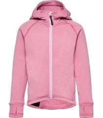 panda primaloft® hoodie outerwear fleece outerwear fleece jackets roze isbjörn of sweden