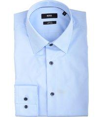 hugo boss jano overhemd lichtblauw slim 50439099/452