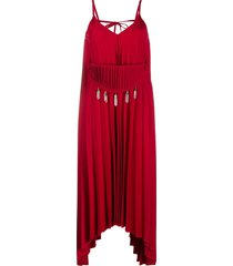 atu body couture crystal-embellished asymmetric dress - red