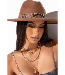 akira brim hat with snake trim