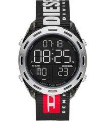 relógio masculino diesel crusher nylon - masculino