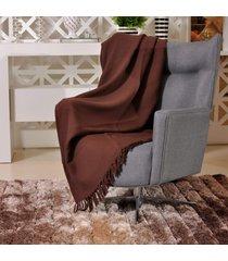 manta capa sofa algodão favo 1,60m x 2,20m marrom - tessi
