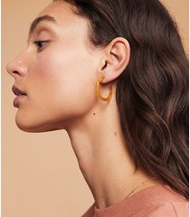 lou & grey machete mini hoop earrings in cognac