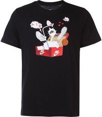 camiseta nike sportswear nsw shoebox photo preta - kanui